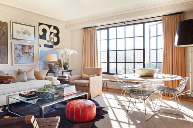 Transitional ideas for small living rooms