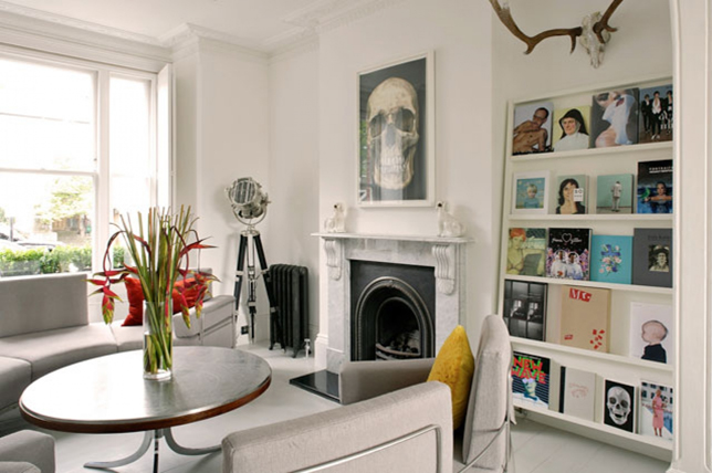 Book art display living room wall decor ideas