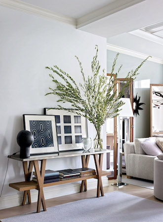 Double Duty Furniture Ideas tiered console table