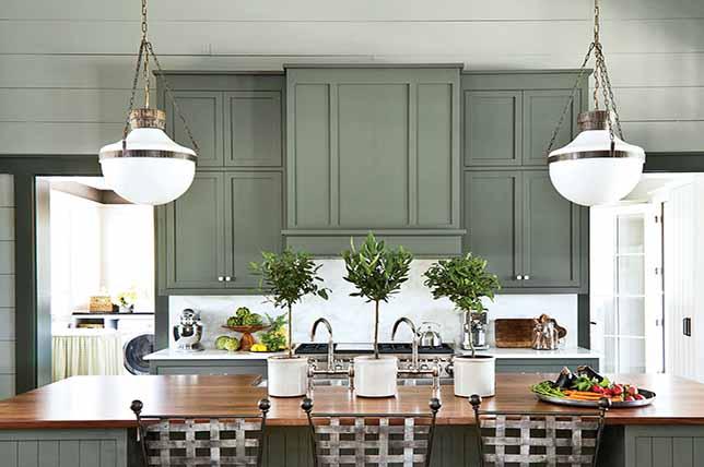 Kitchen sage green color colors ideas