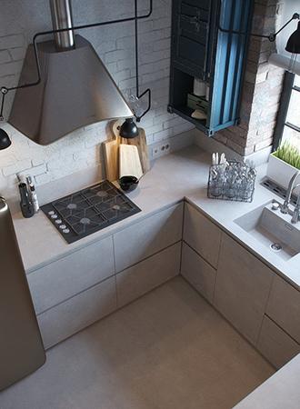 concrete small kitchen ideas