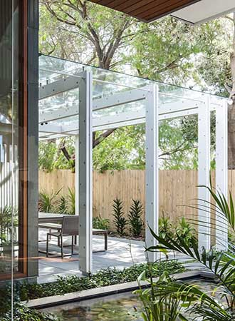 Ideas for glass-covered terraces
