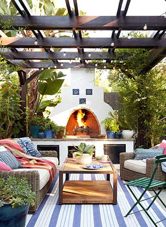 covered patio ideas for furniture