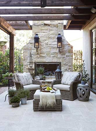chic covered terrace ideas