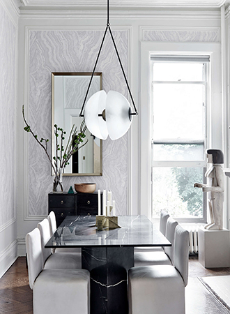Wallpaper ideas with marble effect