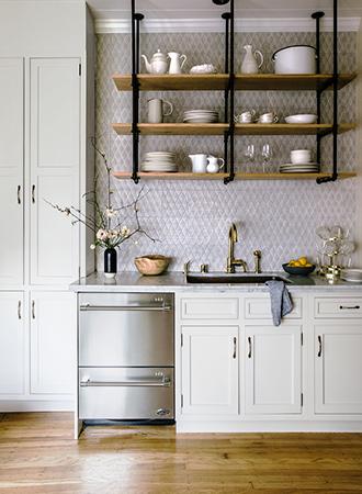 modern kitchen shelf ideas