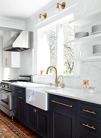 stylish ideas for kitchen shelves