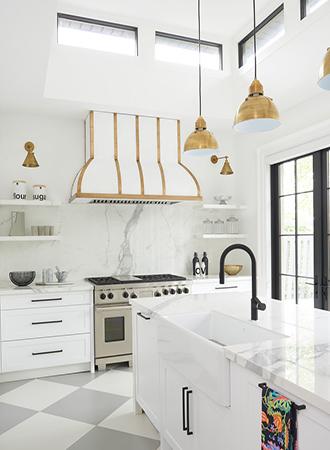white kitchen shelf ideas