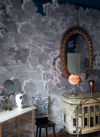 Trompe l'oeil living room wallpaper ideas 2019