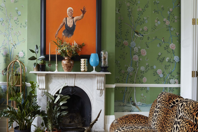 traditional floral living room wallpaper ideas 2019