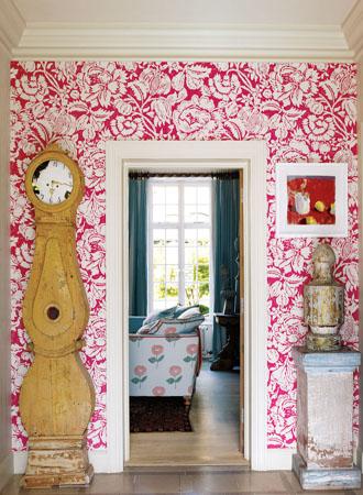 red flowers living room wallpaper ideas 2019