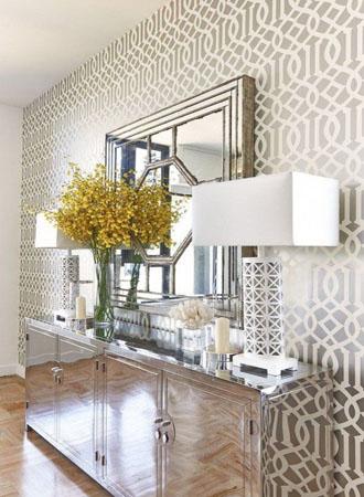 Metallic living room wallpaper ideas 2019