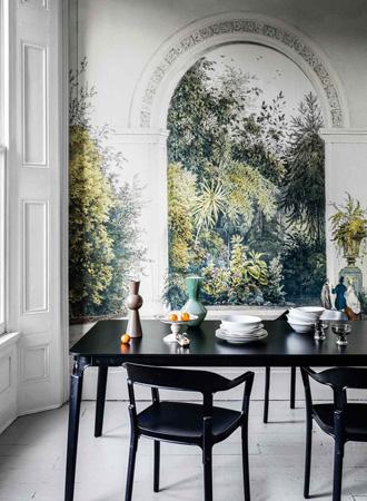 Nature print living room wallpaper ideas 2019
