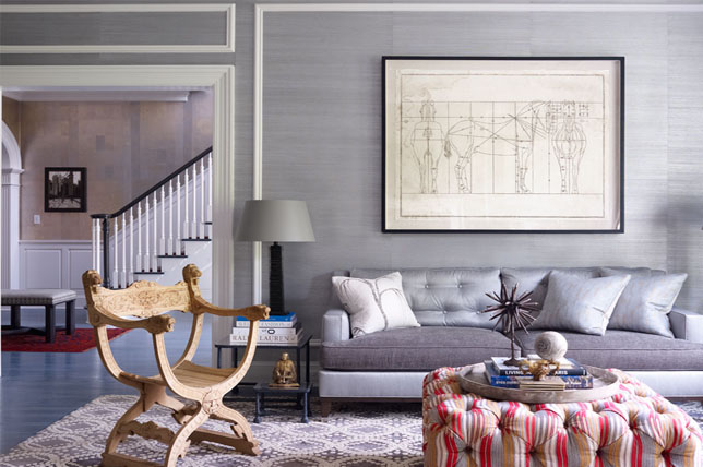 monochrome living room wallpaper ideas 2019