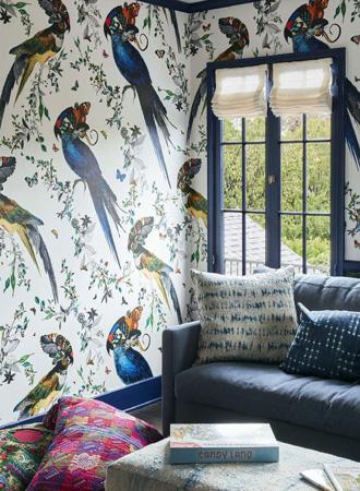 tropical living room wallpaper ideas 2019