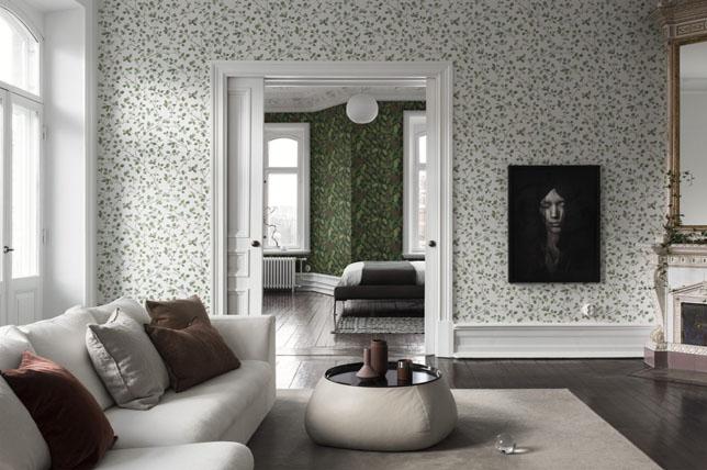 modern floral living room wallpaper ideas 2019