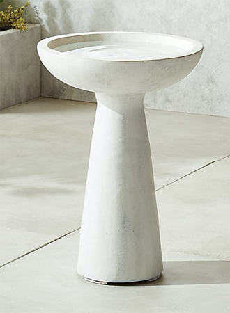Spring decor items modern bird bath