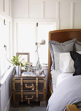 stacked suitcase bedroom storage ideas