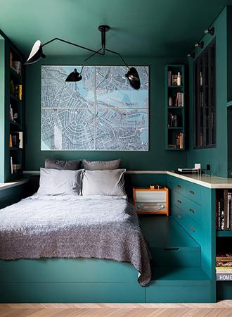 raised platform under bed storage ideas