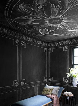 Living room wall decoration ideas trompe l'oiel