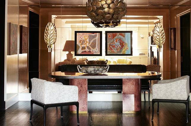mirrored accent wall decor ideas