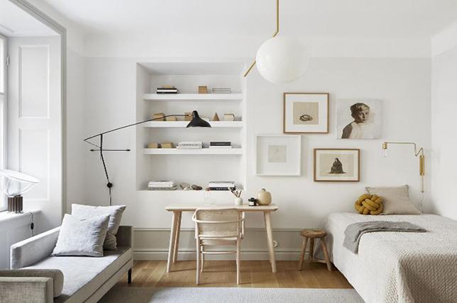 monochrome basement decor ideas