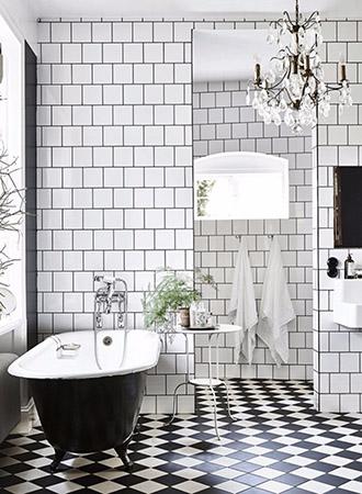 versatile black and white bathroom ideas
