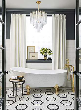 Black and white bathroom ideas for the home