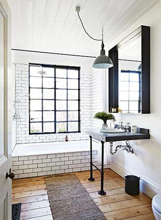 unique black and white bathroom ideas