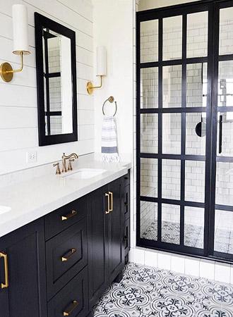 bold modern black and white bathroom ideas