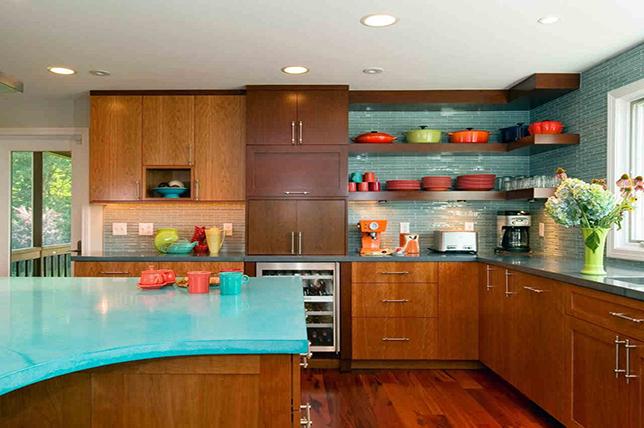 Mid-century modern kitchen counters