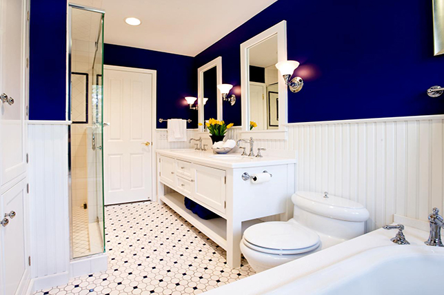 royal blue bathroom colors