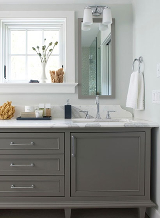mocha gray bathroom lacquer colors