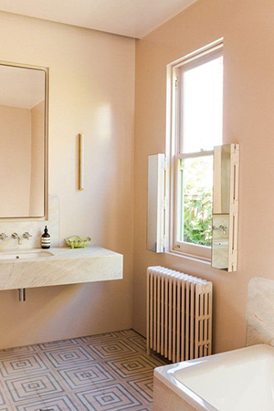Peach pink bathroom colors