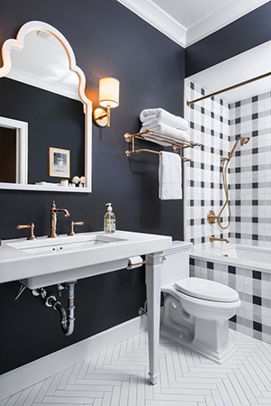 black bathroom colors