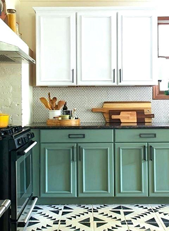 matt lacquered kitchen cabinets