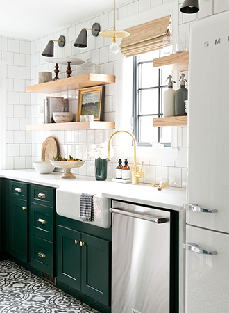 contrast painted kitchen cabinets