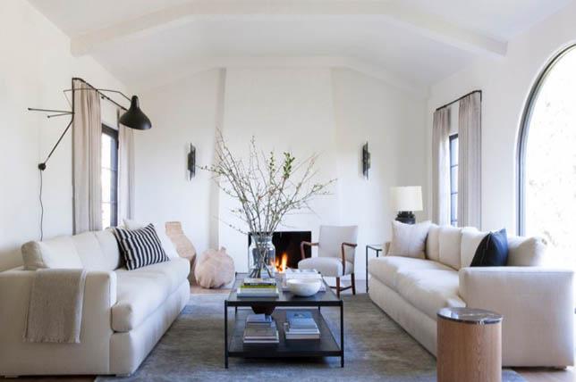 Blush tones Living Room Interior Design Trends 2019