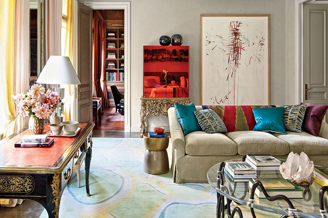 abstract watercolor living room carpets