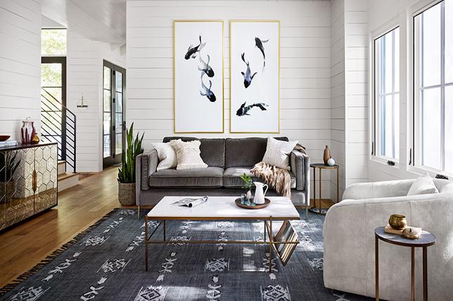 Tribal inspired living room rugs