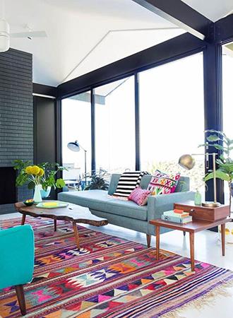 Boho living room rugs