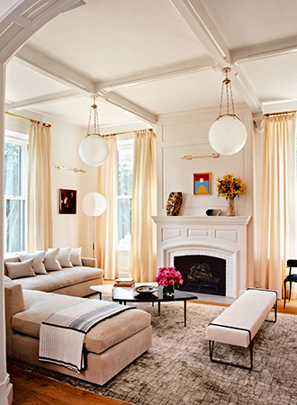 Living room rugs with textured print