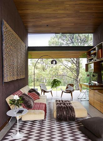 Chevron living room rugs