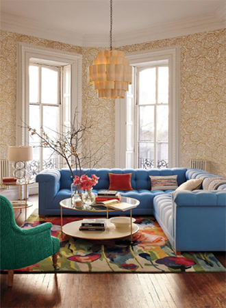stylish floral living room rugs