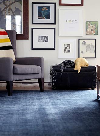 vibrant blue living room rugs
