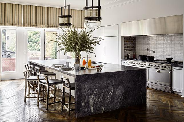 Waterfall kitchen countertop ideas