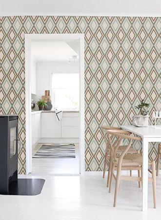 Ideas for kitchen wallpaper with diamond print