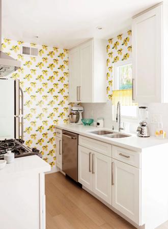 Fruit print kitchen wallpaper ideas