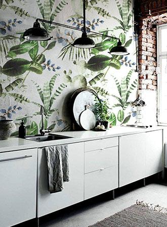 botanical kitchen wallpaper ideas