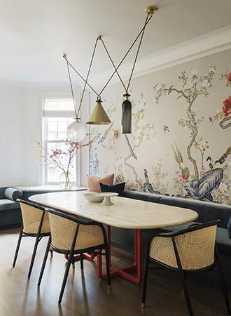 unique illustrated kitchen wallpaper ideas